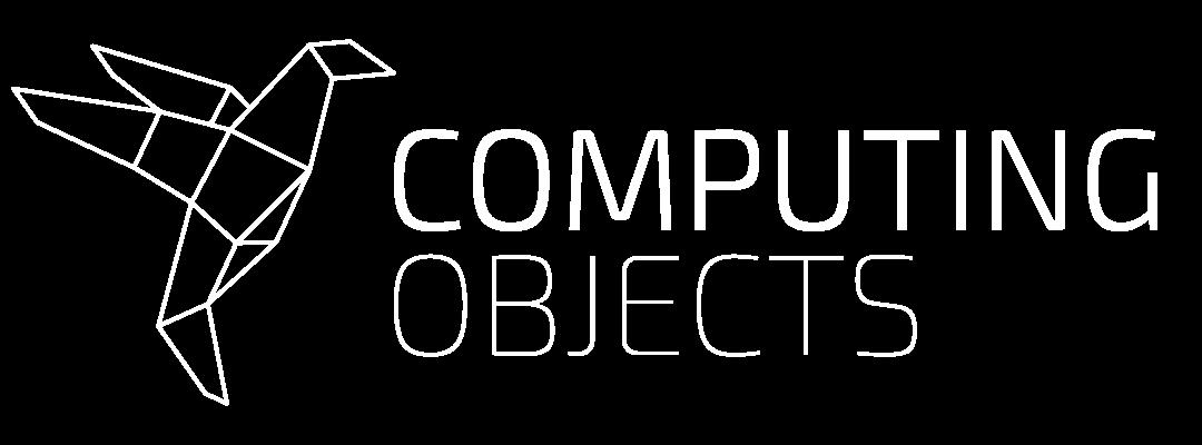 COMPUTING OBJECTS - logo - monochrome white