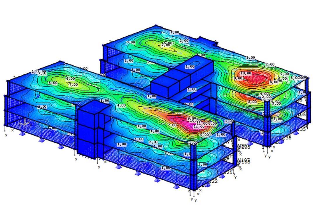 CM2 FEM 2D Engine. Courtesy D.I.E. CAD und Statik Software GmbH, Germany.