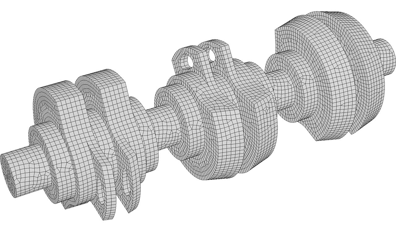 Boundary quad-dominant mesh (input of CM2 HexaMesh Iso).