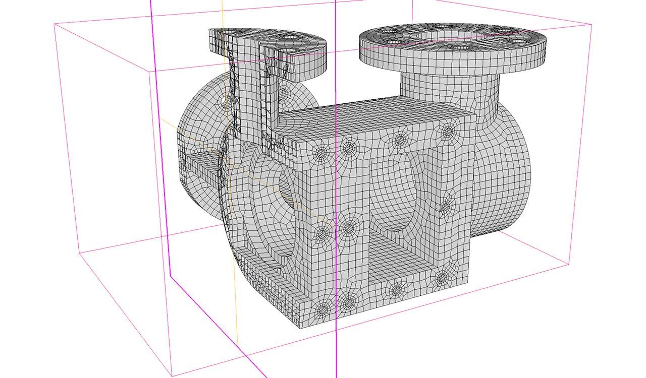CM2 HexaMesh Iso. Hexa-dominant mesh.