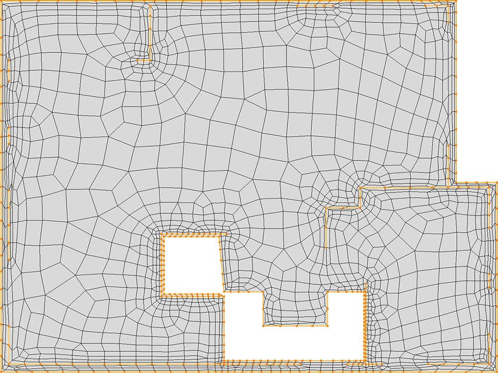 CM2 QuadMesh Aniso. Quad-dominant mesh.