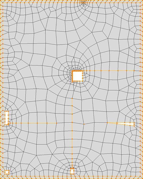 CM2 QuadMesh Iso. Quad-dominant mesh.