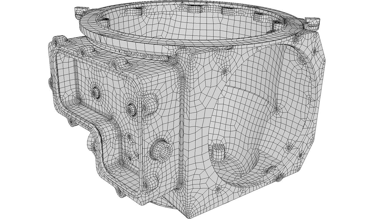 CM2 SurfRemesh Q4. New quad-dominant mesh.