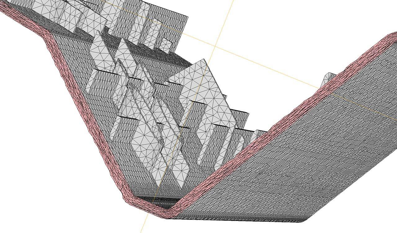 CM2 TetraMesh Aniso. All-tetraedron mesh.