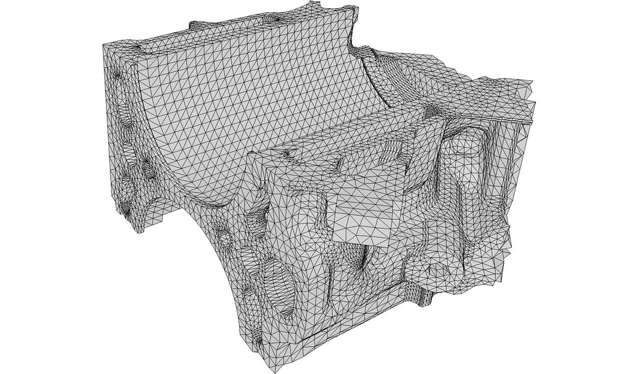 Boundary triangle mesh (input of CM2 TetraMesh Iso).