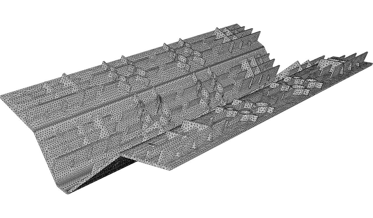 Boundary triangle mesh (input of CM2 TetraMesh Iso). Courtesy VMTECH, Korea.