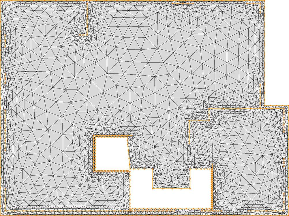 CM2 TriaMesh Aniso. All-triangle mesh.